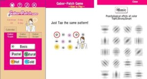 Gabor Patch Game app para mejorar la vision sin gafas