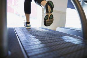 womens treadmills feet running at gym